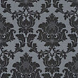 Classics Regency Damask Wallpaper - Black and Silver