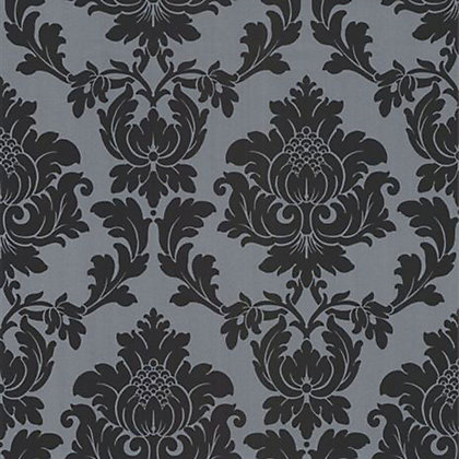 Image for Classics Regency Damask Wallpaper - Black and Silver from StoreName