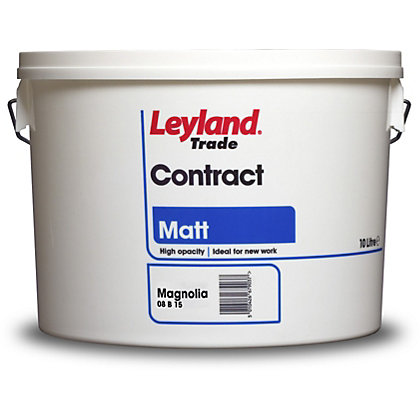 Image for Leyland Contract Matt Magnolia Trade Paint 10L from StoreName