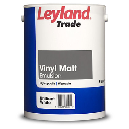 Image for Leyland Vinyl Matt Brilliant White Trade Paint 5L from StoreName