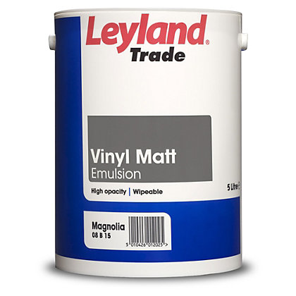 Image for Leyland Vinyl Matt Magnolia Trade Paint 5L from StoreName