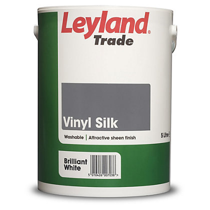 Image for Leyland Silk Brilliant White Trade Paint 5L from StoreName
