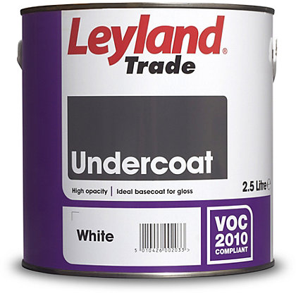Image for Leyland Undercoat White Trade Paint 2.5L from StoreName