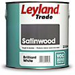 Leyland Satinwood Brilliant White Trade Satin Paint 2.5L