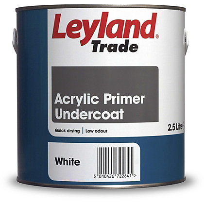 Image for Leyland Acrylic Primer Undercoat White Trade Paint 2.5L from StoreName