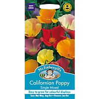 Californian Poppy Single Mixed (Eschscholzia Californica) Seeds
