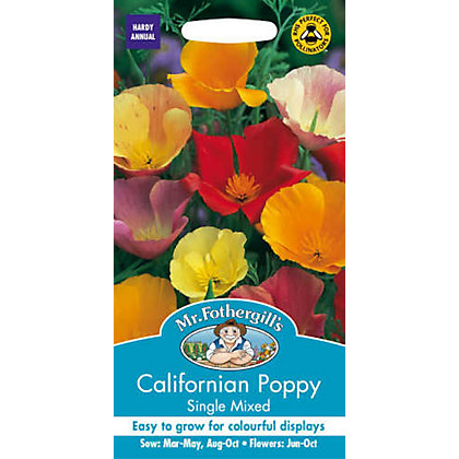 Image for Californian Poppy Single Mixed (Eschscholzia Californica) Seeds from StoreName