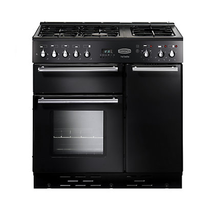 Image for Rangemaster Toledo 90cm Lidded Dual Fuel Range Cooker - Gloss Black from StoreName