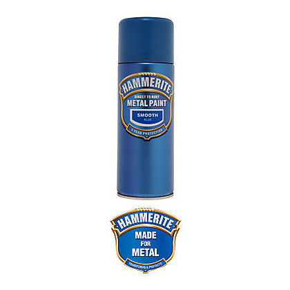 Image for Hammerite Blue - Exterior Smooth Aerosol Paint - 400ml from StoreName