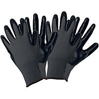 Ribbed Gloves in Black - Large