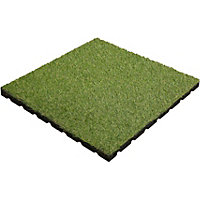 Aslon Rubber Tile with Grass - 400mm