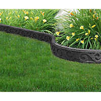 Flexi Curve Garden Border - Scroll Grey
