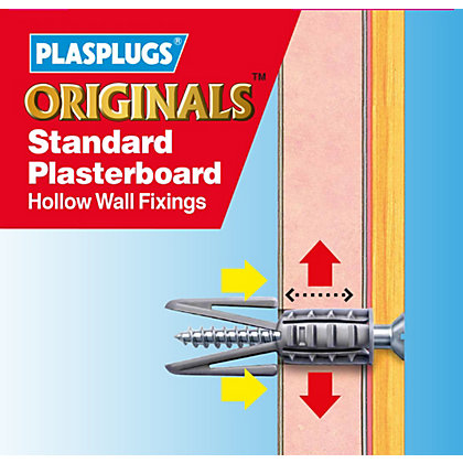 Image for Plasplugs Standard Plasterboard Hollow Wall Fixings from StoreName