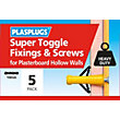 Plasplugs Super Toggle & Screws - 5 Pack