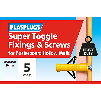 Image for Plasplugs Super Toggle & Screws - 5 Pack from StoreName