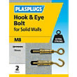 Plasplugs Hook & Eye Bolt M8