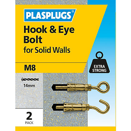 Image for Plasplugs Hook & Eye Bolt M8 from StoreName