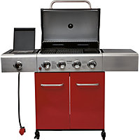 Outback Apollo 4 Burner Red Gas BBQ - Home Delivery
