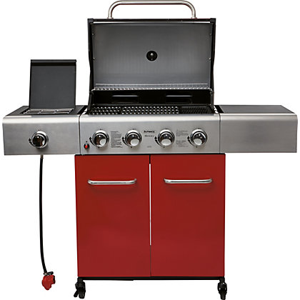 Image for Outback Apollo 4 Burner Red Gas BBQ - Home Delivery from StoreName