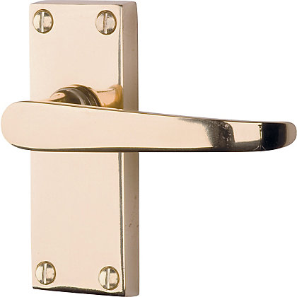 Image for Victorian Lever Latch Door Handle Pack - Polished Brass - 3 Pairs from StoreName