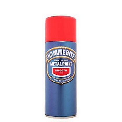 Image for Hammerite Red - Exterior Smooth Aerosol Paint - 400ml from StoreName