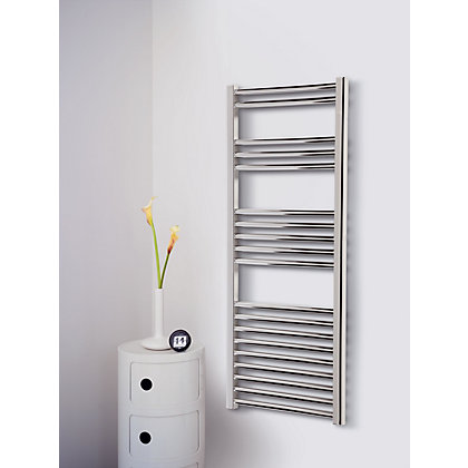 Image for Ashby Heated Towel Rail - 1175 x 500mm - Chrome from StoreName