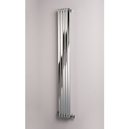Image for Eton Single Panel Vertical Designer Radiator - 1800mm x 252mm - Chrome from StoreName