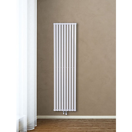 Image for Eton Single Panel Vertical Designer Radiator - 1800mm x 252mm - White from StoreName