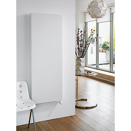Image for Thermokraft Single Panel Vertical Radiator - 1200mm x 300mm - White from StoreName