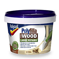 Polycell - Polyfilla For Wood - Large Repairs - Natural - TUB 2 x 250G