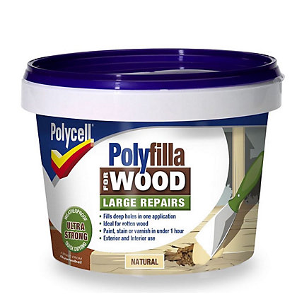 Image for Polycell - Polyfilla For Wood - Large Repairs - Natural - TUB 2 x 250G from StoreName