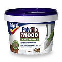 Polycell - Polyfilla For Wood - Large Repairs - White - 2 x 250G