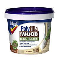 Polycell - Polyfilla  For Wood - Large Repairs - Natural - 2 x 375G