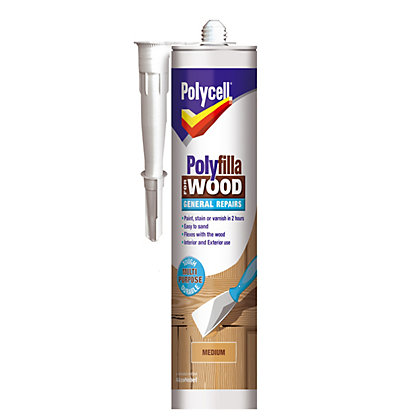 Image for Polycell - Polyfilla For Wood - General Repairs - Medium - 480g from StoreName