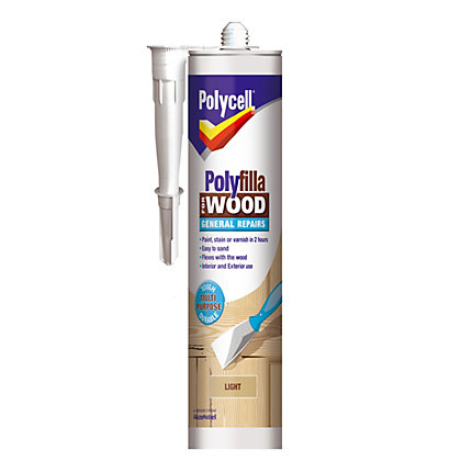 Image for Polycell - Polyfilla For Wood - General Repairs - Light - 480g from StoreName