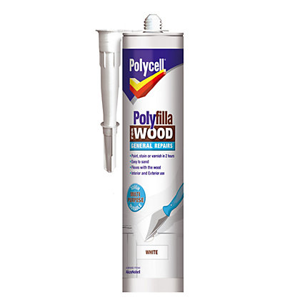 Image for Polycell - Polyfilla For Wood - General Repairs - White - 480g from StoreName