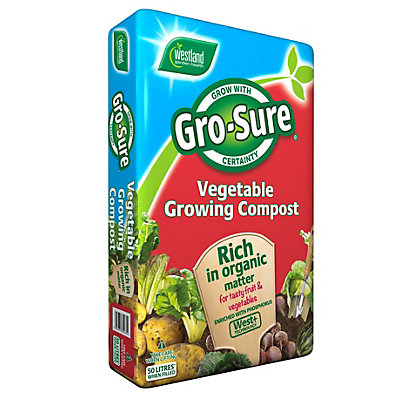 Image for Gro-sure Vegetable Growing Compost - 50L from StoreName
