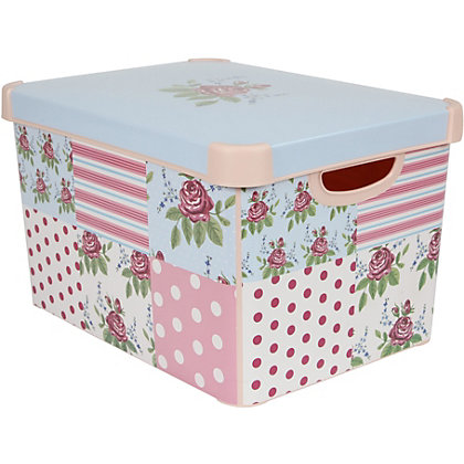 Image for Curver Patchwork Deco Storage Box from StoreName