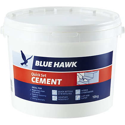 Image for Blue Hawk Quick Set Cement Bucket - 10kg from StoreName