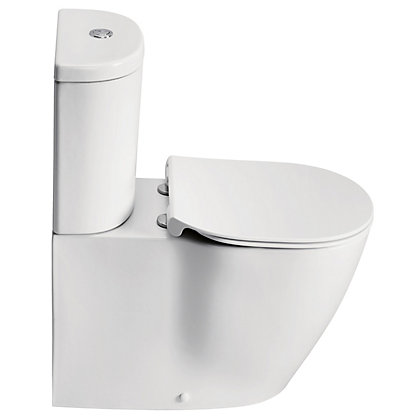 Image for Ideal Standard Senses Sphere Flat to Wall Close Coupled Toilet from StoreName
