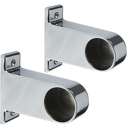 Image for End Brackets - Chrome Plated - 32mm from StoreName