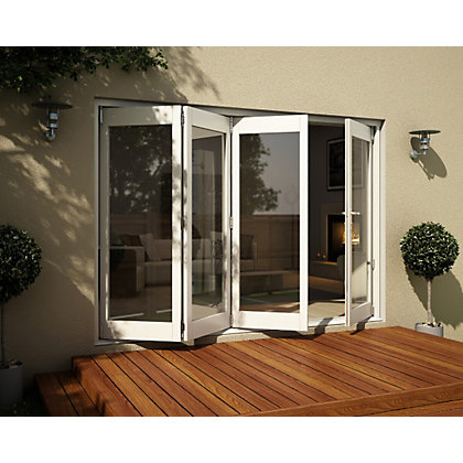 Image for Wellington White Folding Sliding Patio Doorset - 3005mm Wide from StoreName