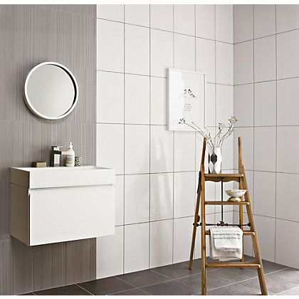 Image for Brooklyn Linea White Ceramic Wall Tile - Collect In Store from StoreName