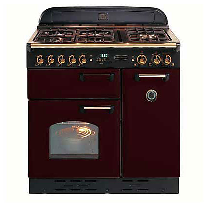 Image for Rangemaster Classic 84830 90 Dual Fuel Cooker - Cranberry/Chrome from StoreName