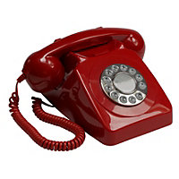 Red GPO 746 Push Button Retro Telephone