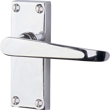Image for Victorian Straight Lever Door Handle Pack - Polished Chrome from StoreName