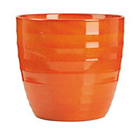 Red Orange Indoor Plant Pot - 19cm