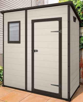 Keter Manor Beige Pent Shed - 6x4ft