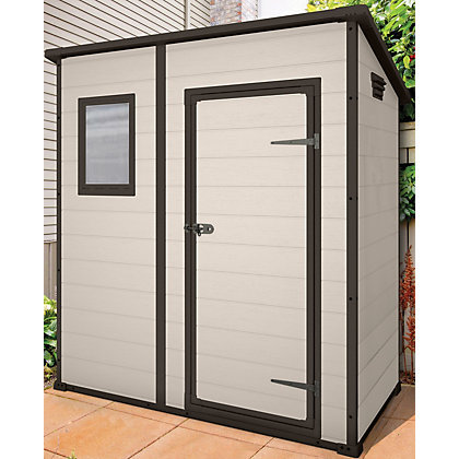 Image for Keter Manor Beige Pent Shed - 6x4ft from StoreName