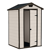 Keter Manor Beige Apex Shed - 4x3ft
